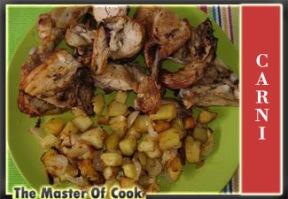 Pollo arrosto con patate e cipolle