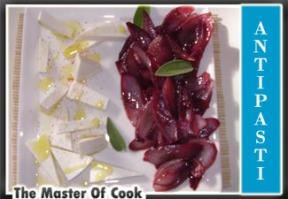 Cipolle rosse stufate con ricotta salata