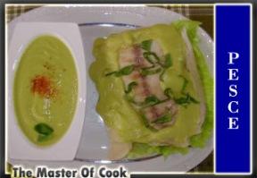 Persico al vapore con salsa di zucchine