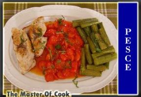 Pesce spada con pomodorini e zucchine