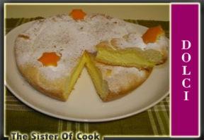 Torta con crema allo zafferano