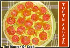Quiche con bottarga e pomodori
