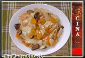 Gnocchi di riso con funghi e verdure