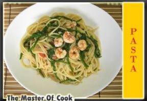 Spaghetti con asparagi di mare e gamberi