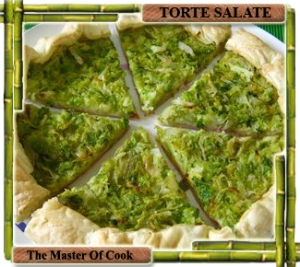 Torta salata speck provola verza