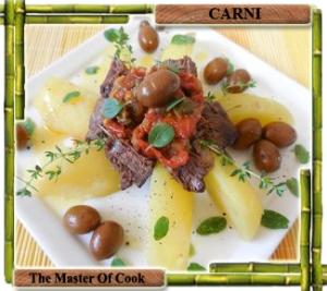 Guancia con pomodori secchi ed olive