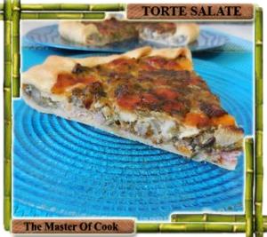 Torta salata con riccia e salsiccia