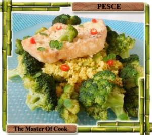 Couscous con broccoli e pesce spada