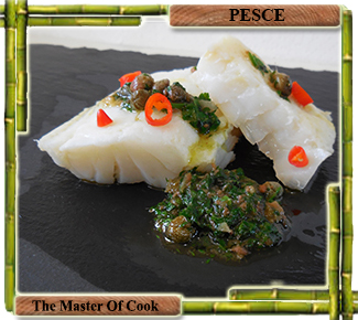 Baccalà bassa temperatura e salsa verde