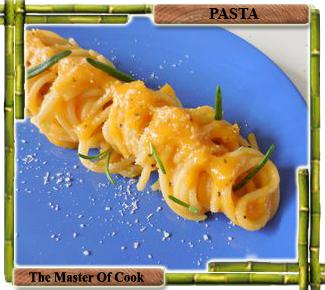 Spaghetti con cema di zucca
