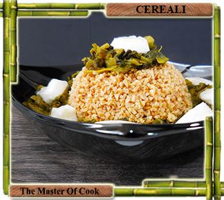 Bulgur di soia con riccia e mozzarella